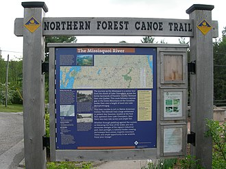 Northern Forest Canoe Trail - Northern Forest Canoe Trail (NFCT) sign
