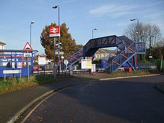 Northolt Park railway station - Image: Northolt Park stn south entrance