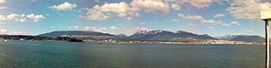 North Shore (Greater Vancouver) - The North Shore, as seen from downtown Vancouver. To the right are the City and District of North Vancouver, and to the left is the District of West Vancouver.