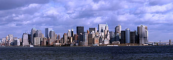 English: skyline of New York City Español: ski...