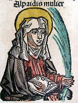 Nuremberg chronicles - Alpaidis, Holy Woman and Seer from Cudota (CCVv)