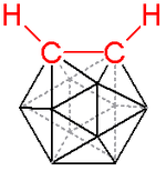 o-carborane, hydrogen atoms connected to boron omitted for clarity