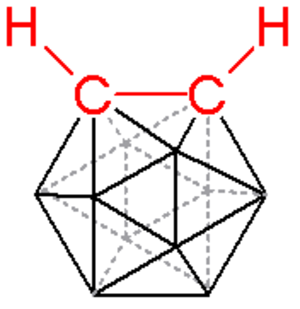 Carborane -  skeletal formula of o-carborane, hydrogen atoms connected to boron omitted for clarity