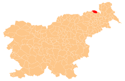Location of the Municipality of Apače in Slovenia
