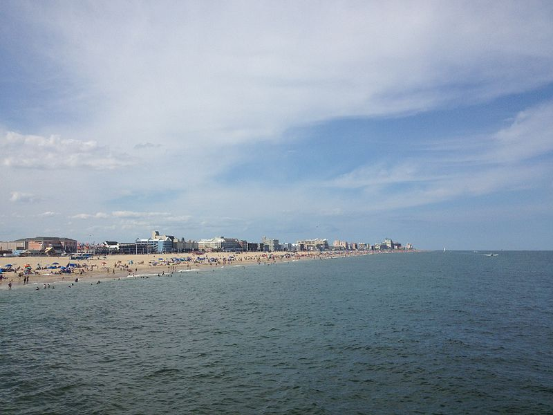 File:Ocean City MD beach looking north from pier.jpeg