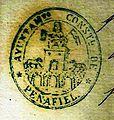 Oficial.Escudo y sello del Ayuntamiento Constitucional de Peñafiel de 1848 a 1882..JPG