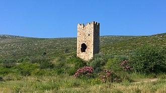 Marathon, Greece - Ruins of a Frankish tower near Marathon