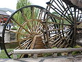 Old Town of Lijiang water wheels rear 1.JPG