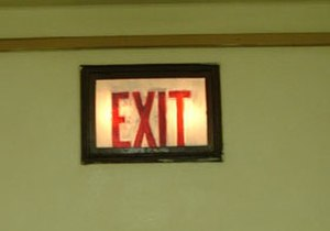 Exit sign - Image: Old exit sign