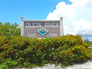 Oleta River State Park - Image: Oleta River State Park Entrance Sign