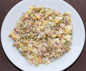 Olivier salad - Typical Soviet-style Olivier salad