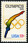 Olympic Games Diving 13c 1976 issue U.S. stamp.jpg