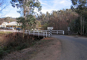 Omeo Highway - Omeo Highway crossing the Cobungra River at Anglers Rest, Victoria