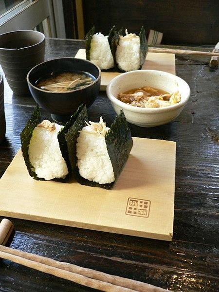 File:Onigiri at an onigiri restaurant by zezebono in Tokyo.jpg