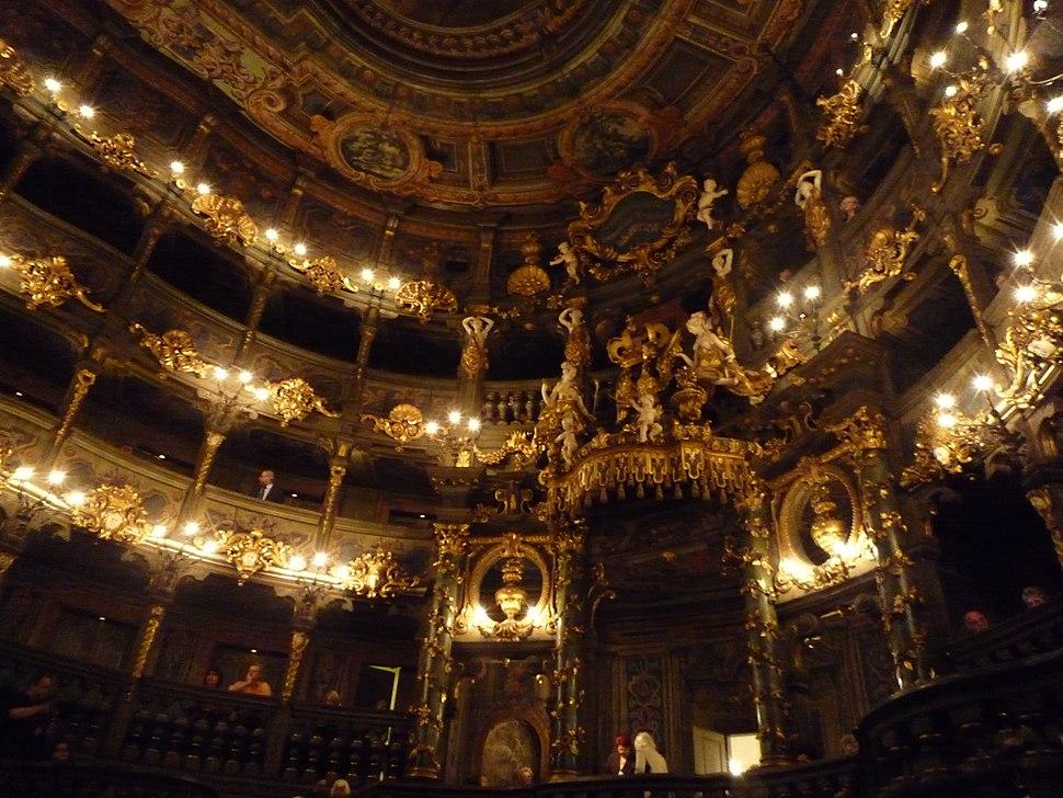 Opéra des margraves intérieur Bayreuth