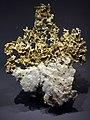 Or natif et quartz, galerie de minéralogie du Muséum national d'histoire naturelle.jpg