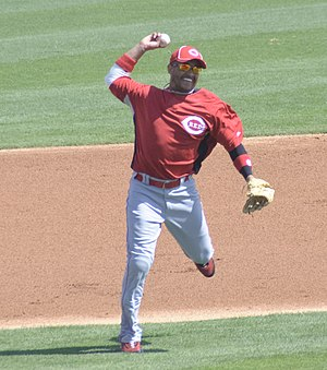 Orlando Cabrera - Cabrera with the Cincinnati Reds in 2010.