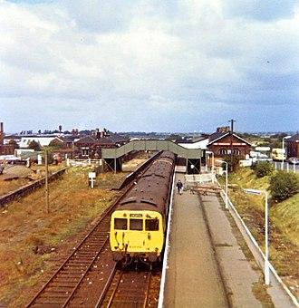 Ormskirk railway station - Image: Ormskirk railway station 1973