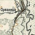 Orvianytsia, 1910—1916, map.jpg