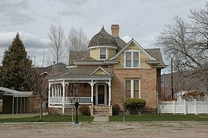 National Register of Historic Places listings in Juab County, Utah - Image: Oscar Booth House Nephi Utah