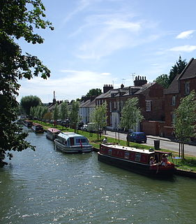 Osney riverside community in the west of the city of Oxford, England