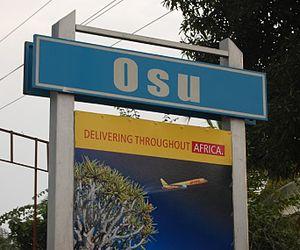 Osu, Accra - Image: Osu marker