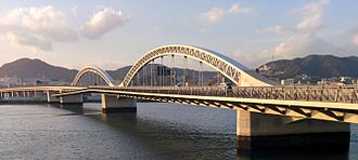 Ōta River - Ōta River Bridge, the southernmost of all the crossings of the Ōta River