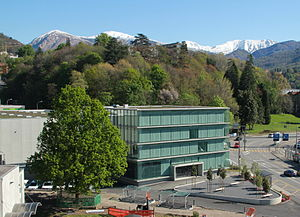 Swiss National Supercomputing Centre - The office building of the Swiss National Supercomputing Centre, with part of the computing building on the left edge of the photo.