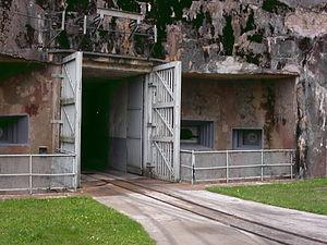 Ouvrage Simserhof - Simserhof's munitions entrance, showing the 60cm rail line