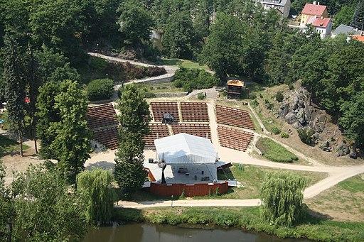 Overview of amfiteatr from Loket castle in Loket, Sokolov District