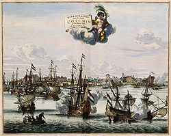 Overwinningh van de Stadt Cotchin op de Kust van Mallabaer - Victory over Kochi on the coast of Malabar.jpg