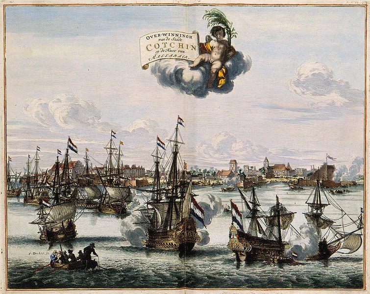 File:Overwinningh van de Stadt Cotchin op de Kust van Mallabaer - Victory over Kochi on the coast of Malabar.jpg