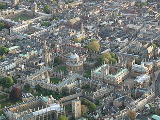 Oxford - Aerial view of Oxford city centre