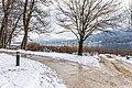 Pörtschach Halbinselpromenade Landspitz Parkbänke 14122019 7705.jpg