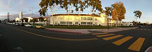 Newport Harbor High School - Panorama of Newport Harbor High School from 15th Street, Newport Beach - Dec. 11, 2016