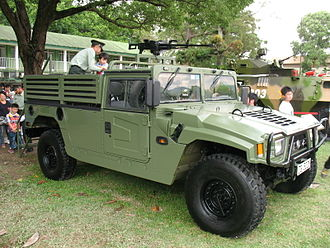 Dongfeng Mengshi - EQ2050 with a modified chassis seen in PLA Hong Kong open day.