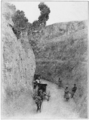 PSM V82 D117 Roadway sunken into the loess by centuries of travel.png
