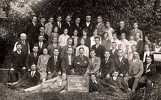 """Polish minority in the Czech Republic - Polskie Stowarzyszenie Robotnicze """"Siła"""" Gruszów, August 1928"""