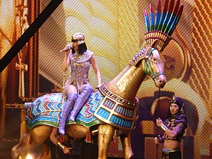 "Prism (Katy Perry album) - Perry performing ""Dark Horse"" during The Prismatic World Tour in New Jersey on July 11, 2014"