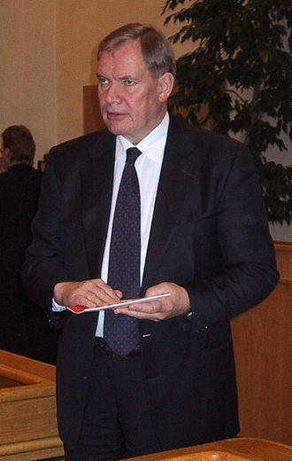 Early 1990s depression in Finland - Paavo Lipponen served as the Prime Minister of Finland after the depression.