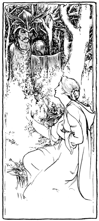 Tam Lin - Image: Page 161 illustration in More English Fairy Tales