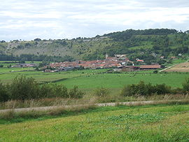 The village see from the Tête des Rousseaux