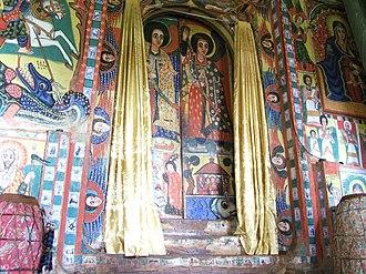 Bahir Dar - Murals in a church on Lake Tana, near Bahir Dar