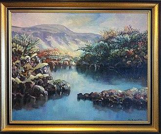 Þingvellir - Image: Painting of Þingvellir