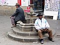 Pair of Men in Downtown Plaza - Sucre - Bolivia (3776328241).jpg