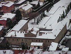 Aerial view of Palazzo Francesconi