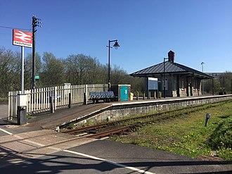 Pantyffynnon railway station - Image: Pantyffynnon Railway Station (geograph 5751924)
