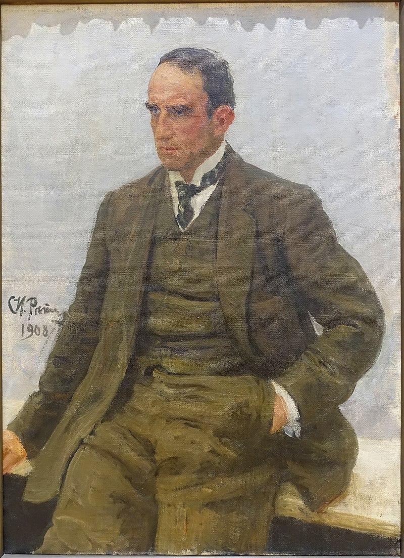 Паоло Трубецкой - Илья Ефимович Репин, 1908 - Национальная галерея современного искусства - Рим, Италия - DSC05513.jpg