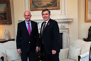 Greece–United Kingdom relations - Gordon Brown with George Papandreou during his visit to Athens
