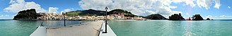 Parga - A 360-degree panoramic image of Parga from the peer.